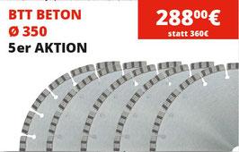 BTT Beton Trennscheiben Ø 350 -  5er Aktion