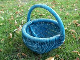 Kinderkorb, Streukörbchen aus Rattan-Peddigrohr blau