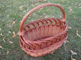 Kinder-Einkaufskorb, Streukörbchen mit Längsgriff aus gesottener Weide