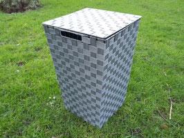Wäschekorb, Wäschetonne aus Nylongeflecht mit Metallrahmen