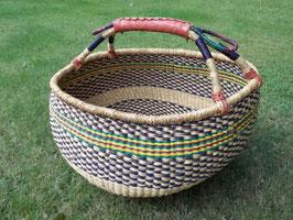 Korbtasche, Malikorb, Bolgakorb aus Steppengras, farblich unterschiedlich sortiert