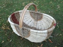 Einkaufskorb, Handkorb aus Rattan und Seegras
