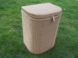 Sitzwäschetruhe, Wäschetonne aus Loom
