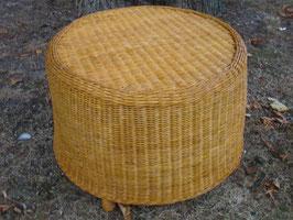 Fußhocker, Sitzhocker aus Rattan, rund