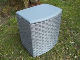 Wäschetruhe, Wäschekorb, Sitztruhe mit Polster, in zwei Größen, grau
