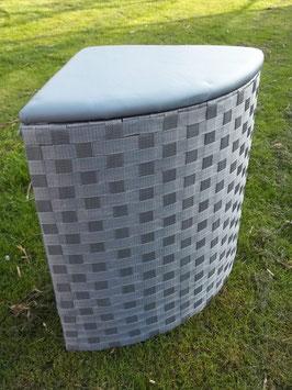 Wäschekorb, Sitztruhe mit Polster, in zwei Größen, grau