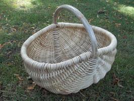Einkaufskorb aus Rattan-Peddigrohr natur