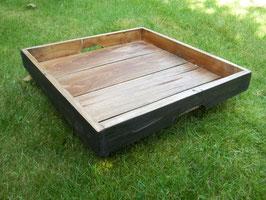 Tablett, Dekoschale, Präsentkorb aus recyceltem Holz
