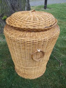 Wäschekorb, Wäschetonne aus Peddigrohr/Rattan