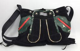 """Tasche aus einer ausgedienten Lederhose""""black is beautifull"""", Unikat!"""