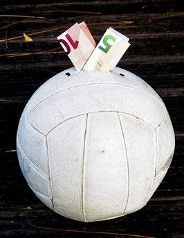 Volleyball!  Mikasa Weiss, oldschool, Spardose oder Geldgeschenk?