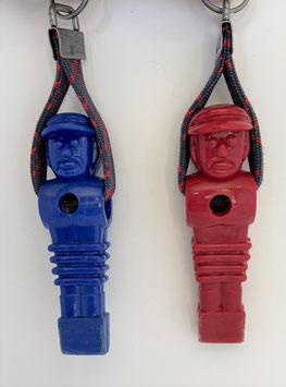 Antike Kickerfigur Kunststoff Rot oder Blau