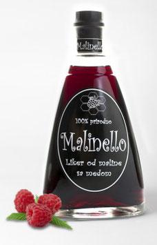 Malinello Himbeerlikör mit Honig 0,5l, 23% alc.