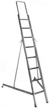 Aluminium-Leiter 8 Sprossen/ Echelle en aluminium 8 éechelons Art. Nr. 110.8