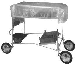 Dach zu Erdbeerpflückwagen/ Toit pour le chariot ci-dessus  Art. Nr. 160.1