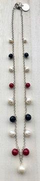 Collana girocollo con cristalli, pietre dure o perle Swarovski cod. C56