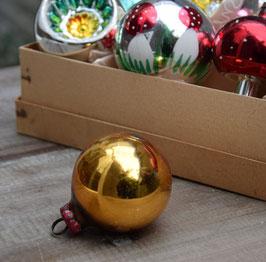 Kerstbal koper/goud