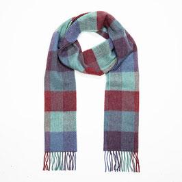 John Hanly sjaal, multigekleurd geblokt