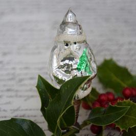 Kerstman op knijper, zilver