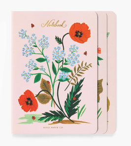 Rifle Paper Co. stitched notebook set 3 'Botanical'