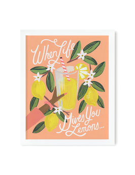 Rifle Paper Co. - Poster 'When life gives you lemons'