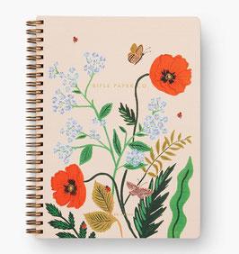 Rifle Paper Co. Notebook 'Poppy botanical'