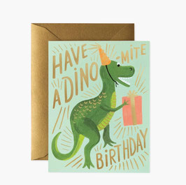 Rifle Paper Co. wenskaart 'Dino-mite Birthday'