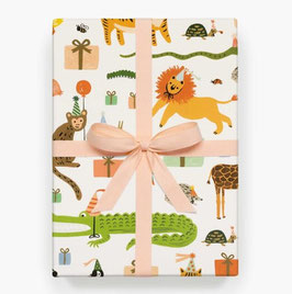 Rifle Paper Co.  Gift wrap 'Party animals'