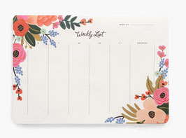 Rifle Paper Co. Desk pad planner 'Lively floral'