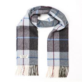 John Hanly sjaal, lichtblauw/antraciet