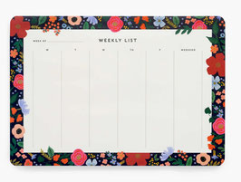 Rifle Paper Co. Desk pad planner 'Wild rose'