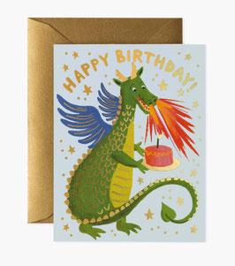 Rifle Paper Co. Wenskaart 'Dragon birthday'