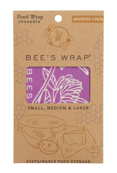 Bee's Wrap, assorted 3 pack, Mimi's purple