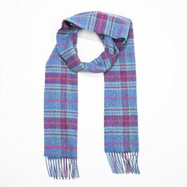 John Hanly sjaal, blauw/paars geblokt