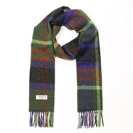 John Hanly sjaal, groen/paars geblokt