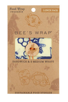 Bee's Wrap, lunch pack, Bee's & Bears