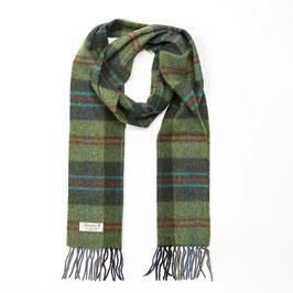 John Hanly sjaal, groen/rood geblokt