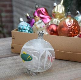 Kerstbal transparant, vissen