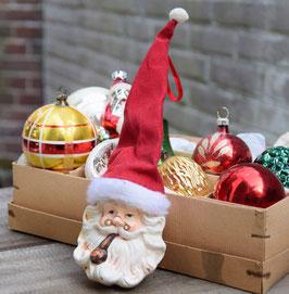 Kerstman hoofd, lange muts