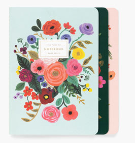 Rifle Paper Co. stitched notebook set 3 'Garden party'
