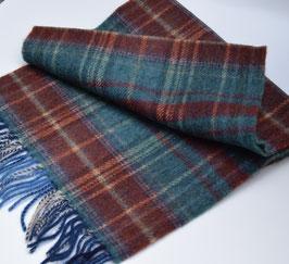 John Hanly sjaal, bordeauxrood/blauw