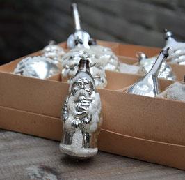 Kerstman oud, zilver gesuikerd