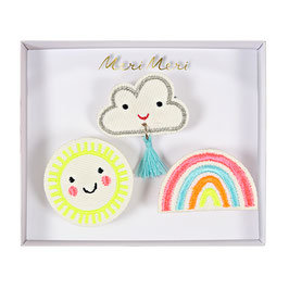 Meri Meri - Broche 'Happy weather' set van 3