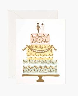 Rifle Paper Co. wenskaart 'Congrats Cake'