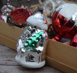 Kerstman zilver, groot