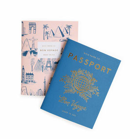 Pocket notebooks 'Passport' set van 2