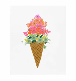Rifle Paper Co. - Poster 'Ice cream cone'