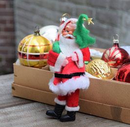 Kerstman groot, stof