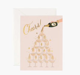 Rifle Paper Co. wenskaart 'Champagne tower Cheers!'