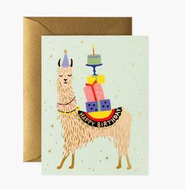 Rifle Paper Co. wenskaart 'Llama Birthday'